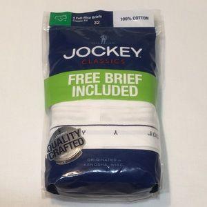 Jockey Classics 4 Full Rise Briefs 100% Cotton